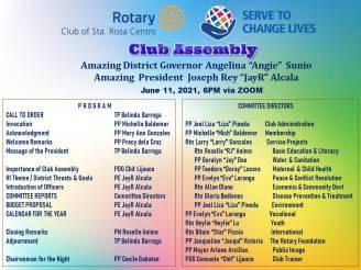 Club Assembly Program